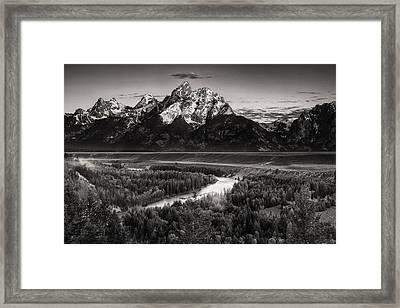 Snake River View Framed Print by Andrew Soundarajan
