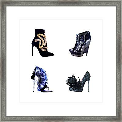 Snakes And Glitter  Framed Print by Cindy Edwards