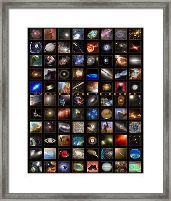 Snapshots Of A Universe Framed Print by Nasa