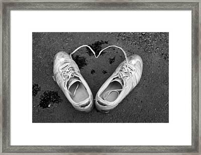 Sneaker Heart Framed Print by Pat Bourque
