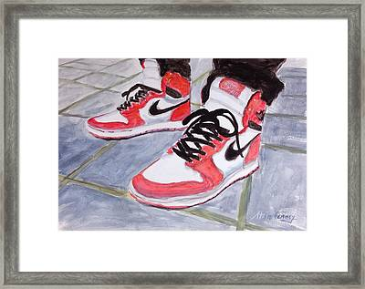 Sneakers Framed Print by Stan Tenney