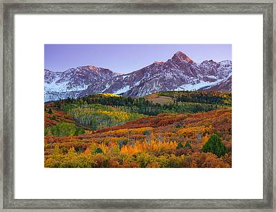 Sneffels Sunrise Framed Print by Darren  White
