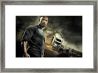 Snitch Dwayne Johnson  Framed Print by Movie Poster Prints