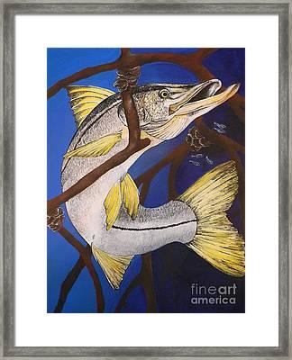 Snook Painting Framed Print by Lisa Bentley