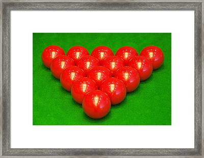 Snooker Balls Framed Print by Guang Ho Zhu