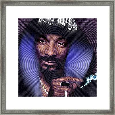 Snoop And Lyrics Framed Print by Tony Rubino