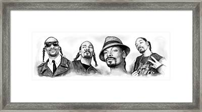 Snoop Dogg Group Art Drawing Sketch Poster 30x85cm Framed Print by Kim Wang