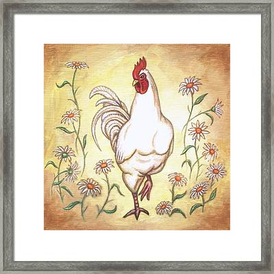 Snooty The Rooster Two Framed Print by Linda Mears