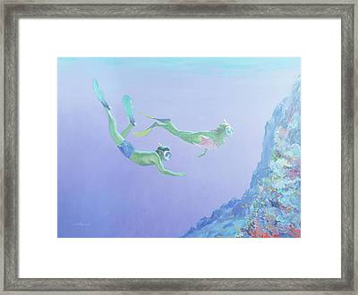 Snorklers Framed Print by William Ireland