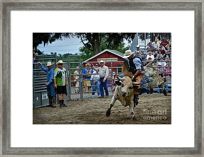 Snot Bubble Rider Framed Print by Gary Keesler