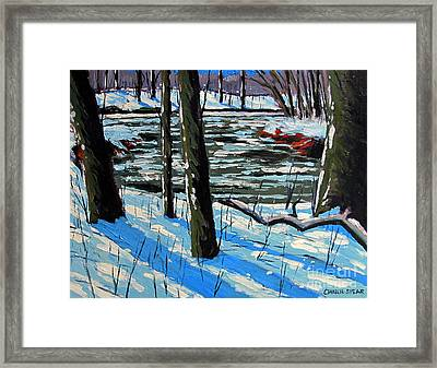 Snow Back On The Eel Framed Print by Charlie Spear