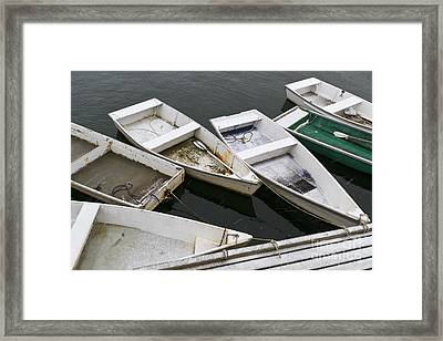 Snow Boats II Framed Print by Katherine Gendreau