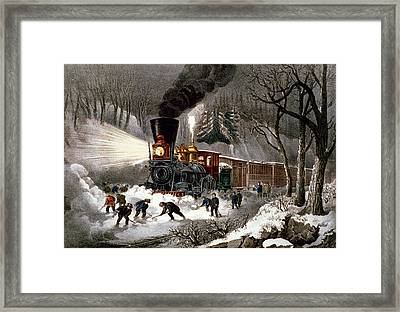 Snow Bound Framed Print by Currier and Ives