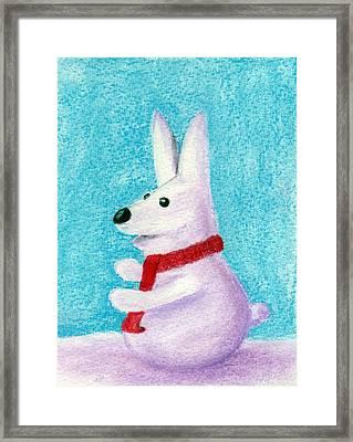 Snow Bunny Framed Print by Anastasiya Malakhova