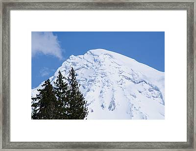 Snow Cone Mountain Top Framed Print by Tikvah's Hope