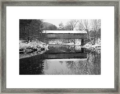 Snow Covered Coombs Framed Print by Luke Moore