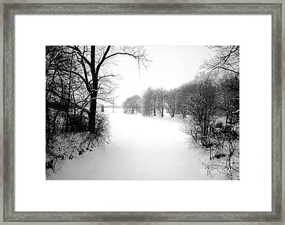 Snow Covered Herrick Lake 1981 Framed Print by ImagesAsArt Photos And Graphics