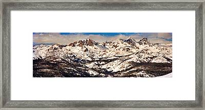 Snow Covered Landscape, Mammoth Lakes Framed Print by Panoramic Images