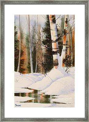 Snow Crevice Framed Print by Teresa Ascone