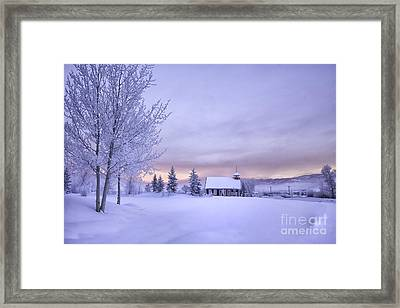 Snow Day Framed Print by Kristal Kraft