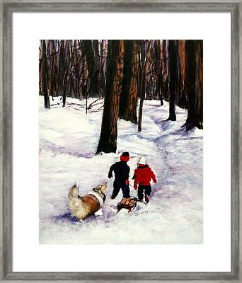 Snow Days Framed Print by Jeanne  McNally
