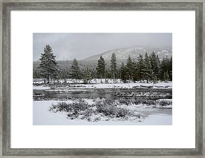 Snow-dusted Gibbon Meadows In Yellowstone Framed Print by Bruce Gourley