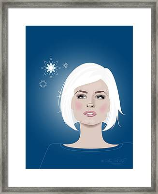 Snow Flakes Framed Print by Amy De Wolfe