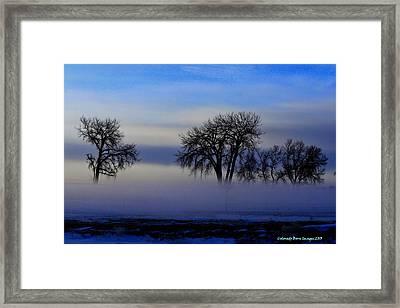 Snow Fog Framed Print by Rebecca Adams