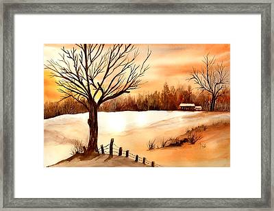 Snow Glow Framed Print by Neela Pushparaj