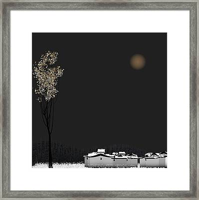 Snow Framed Print by GuoJun Pan