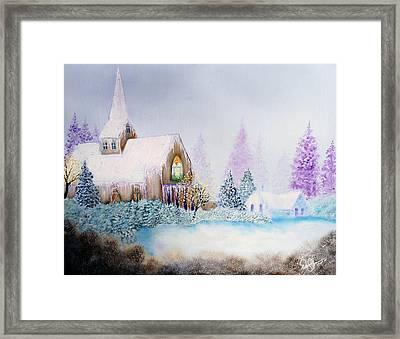 Snow In Florida Framed Print by David Kacey
