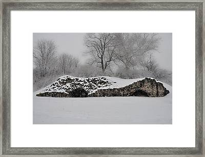 Snow In Plymouth Meeting Pa Framed Print by Bill Cannon