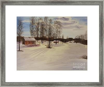 Snow In Solbrinken Framed Print by Martin Howard