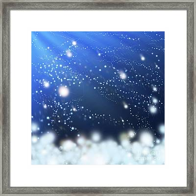 Snow In The Wind Framed Print by Atiketta Sangasaeng