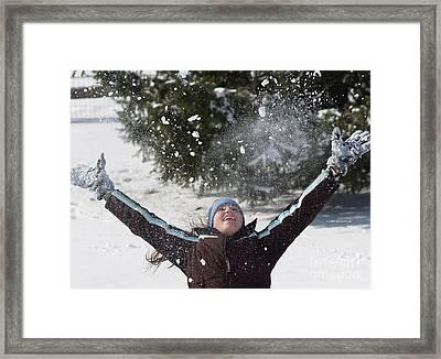 Snow Joy Framed Print by Maureen Carr