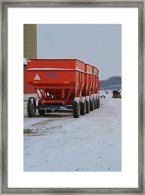 Snow On The Farm Framed Print by Dan Sproul
