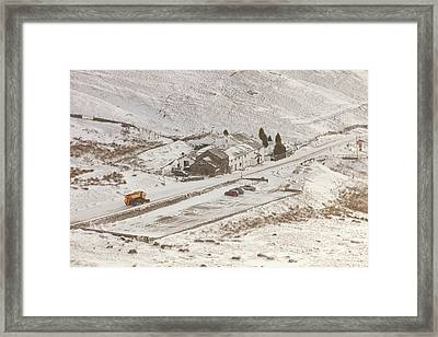 Snow Plough At Work Framed Print by Ashley Cooper