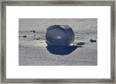 Snow Roller Framed Print by Dan Sproul
