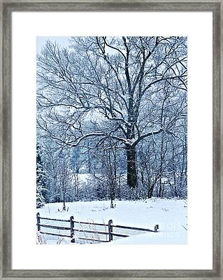 Snow Framed Print by Sarah Loft