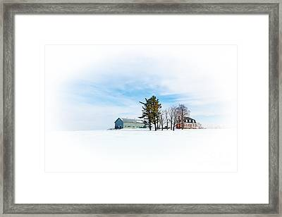 Snow Scene  Framed Print by Jane Rix