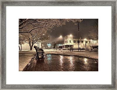 Snow Square - Color Framed Print by Jimmy McDonald