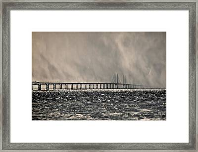 Snow Storm Out At Sea Framed Print by EXparte SE