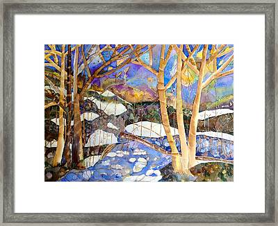 Snow Stream Framed Print by Autumn Leaves