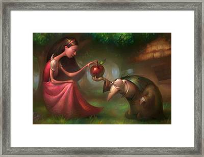 Snow White Framed Print by Adam Ford