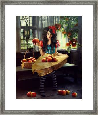 Snow White Framed Print by Cindy Grundsten