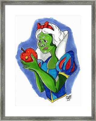 Snow White Goul Framed Print by Sam Evil