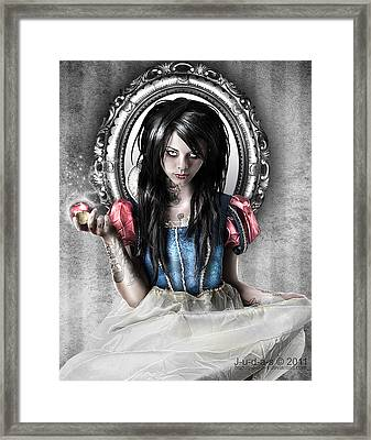 Snow White Framed Print by Judas Art