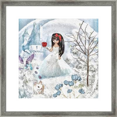 Snow White Framed Print by Mo T