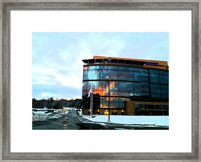 Snow With Sunrise Framed Print by Rose Wang