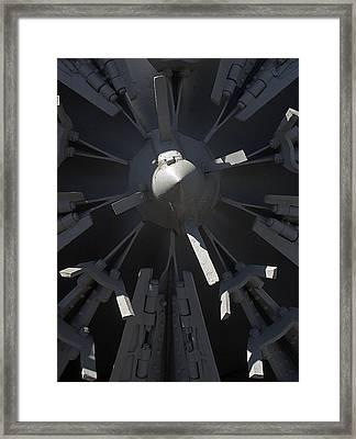 Snowblower Framed Print by Steven Ralser